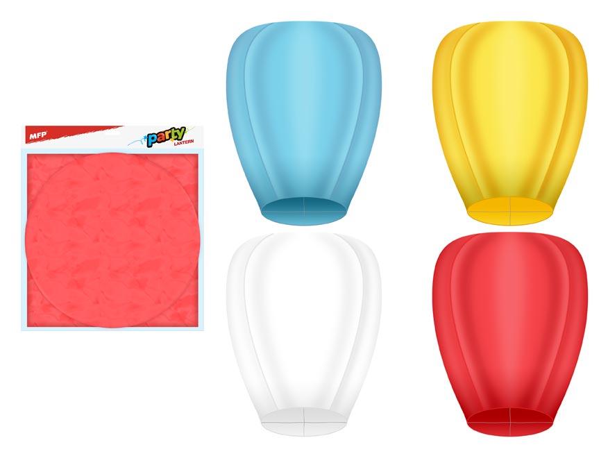 Lampión MFP šťastia lietajúci 100x40cm farebný mix
