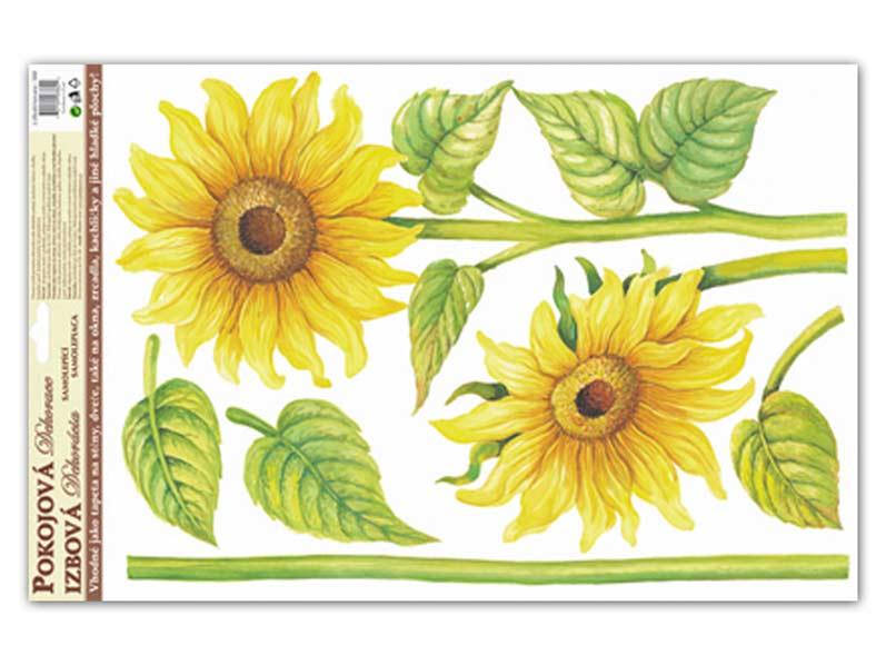 Samolepiaca dekorácia 541 59x35 slnečnice