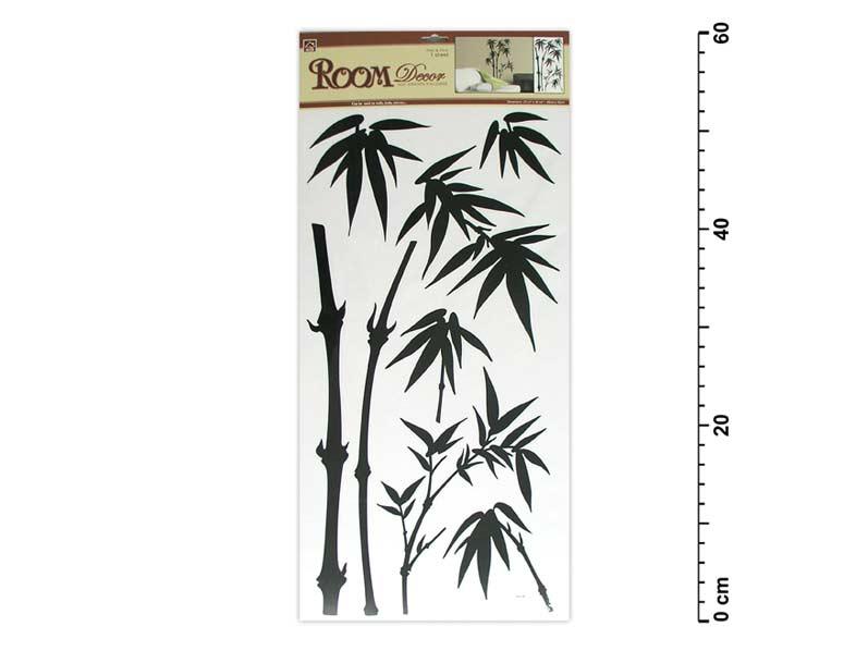 Samolepiaca dekorácia 545 59x32 čierna - bambus