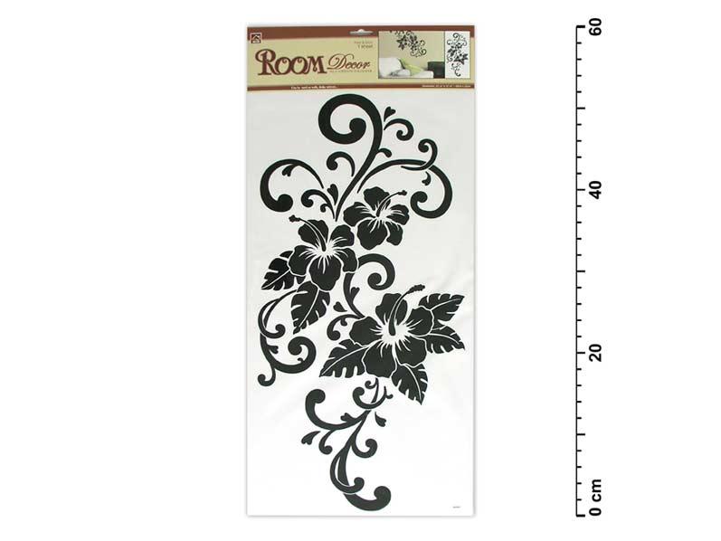 Samolepiaca dekorácia 546 59x32 čierna - ibištek