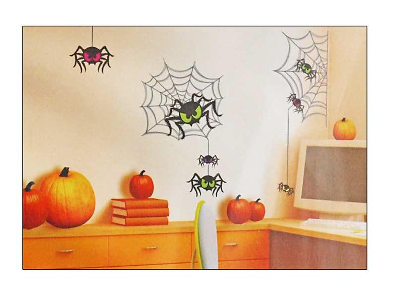 Samolepiaca dekorácia 599 pavúky 69x32cm