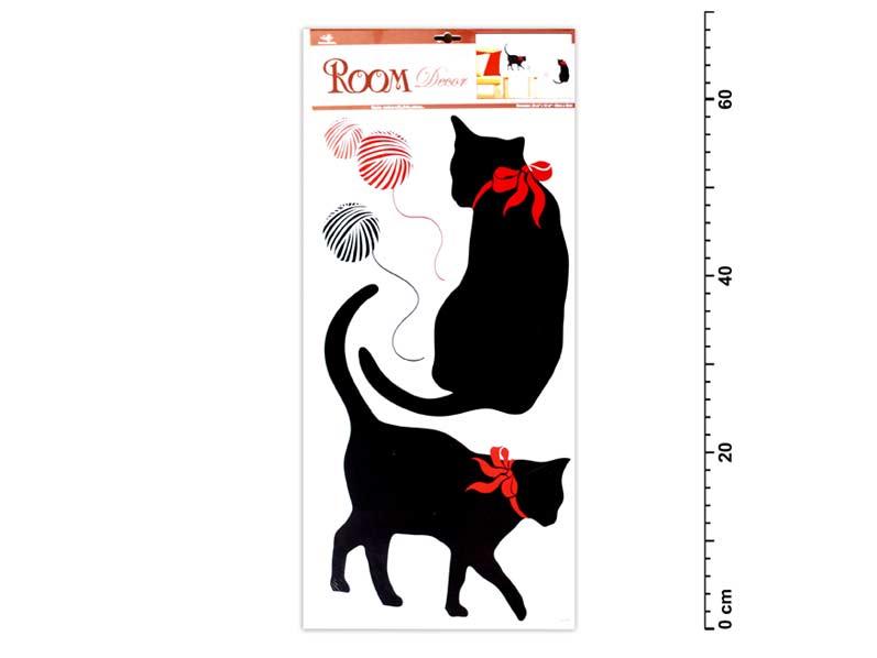 Samolepiaca dekorácia 937 čierne mačky 69x32cm