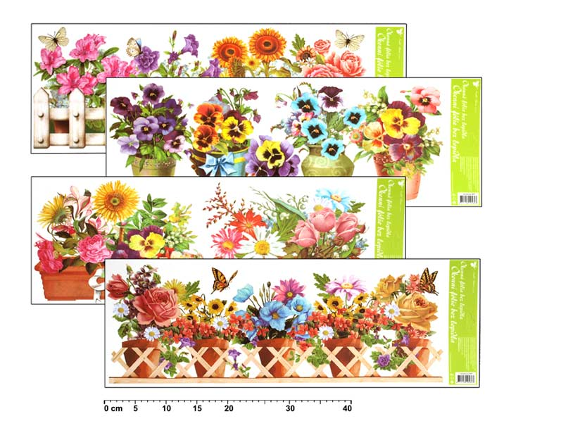 Fólia okenná 877 kvety 60x22,5cm