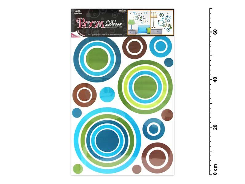 Samolepiaca dekorácia 1058 modré kruhy 70x42cm