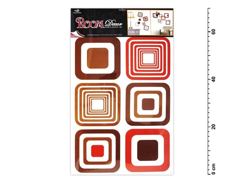 Samolepiaca dekorácia 1063 hnedé štvorce 70x42cm