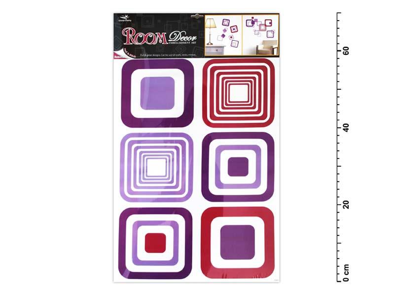 Samolepiaca dekorácia 1064 fialové štvorce 70x42cm
