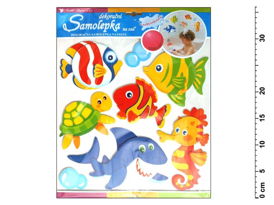 Samolepiaca dekorácia 566 ryby vodeodolná 31x30cm