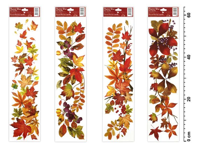 Fólia okenná 881 jesenné lístie 64x15