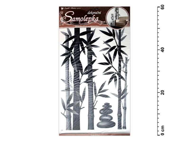 Samolepiaca dekorácia 10015 bambus šedý 60x32cm
