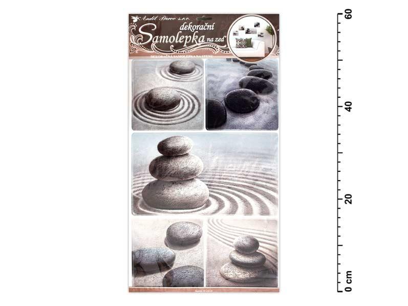 Samolepiaca dekorácia 10030 kamene v piesku 60x32cm