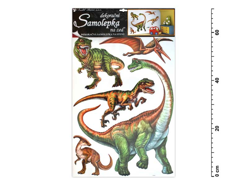 Samolepiaca dekorácia 10036 dinosauri 70x42cm