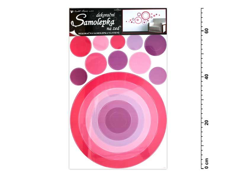 Samolepiaca dekorácia 10064 kruh ružový 70x42cm