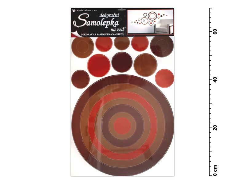 Samolepiaca dekorácia 10066 kruh hnedý 70x42cm