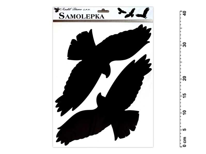Samolepiaca dekorácia 429 vtáky 42x30cm