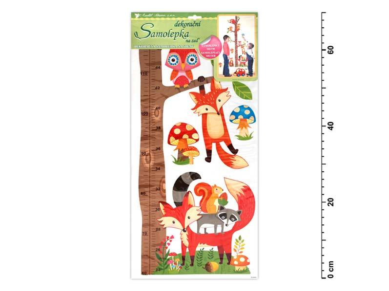 Samolepiaca dekorácia 10096 meter strom s lesnými zvieratkami 70x33cm