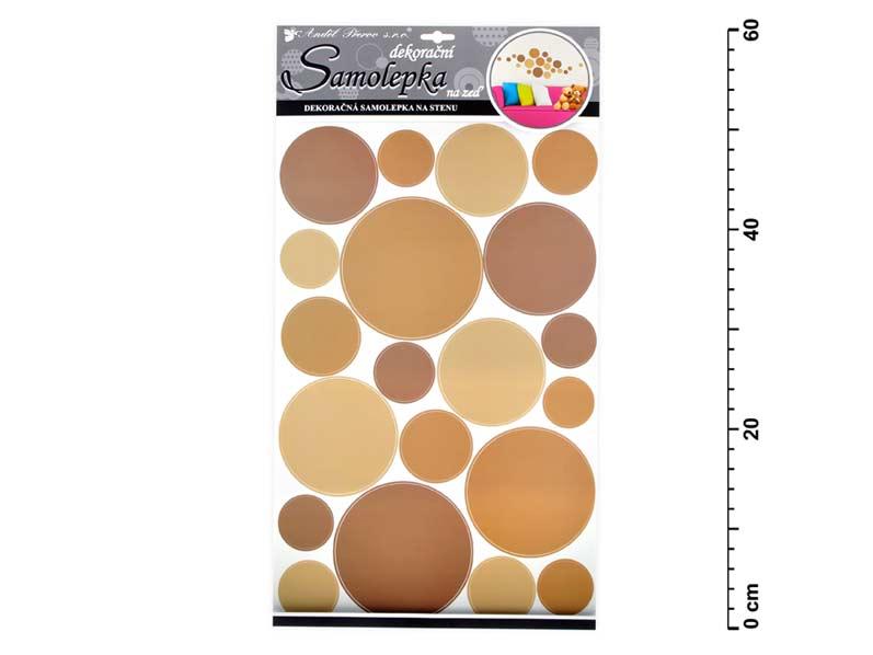 Samolepiaca dekorácia 10171 kruhy béžové 60x32 cm