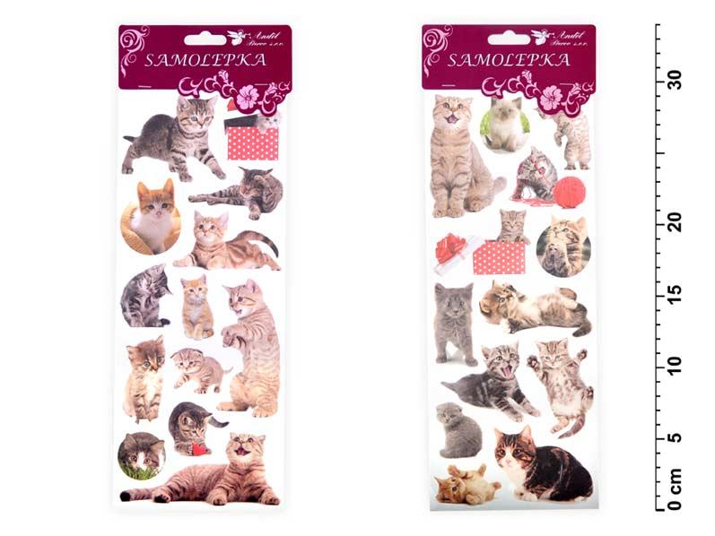 Samolepky 1250 mačky 34,5x 12,5 cm