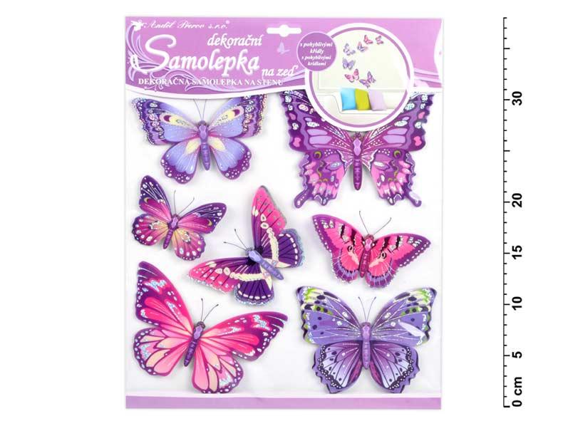Samolepiaca dekorácia 10162 motýli fialoví 30,5x30,5 cm