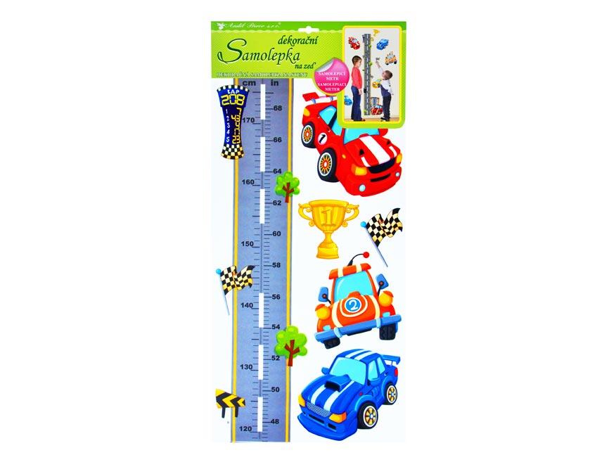 Samolepiaca dekorácia 10180 detský metér hradská a autá 120 x 32 cm