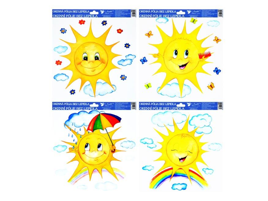 Fólia okenná 948 ručne maľovaná sluníčka 33,5x30 cm