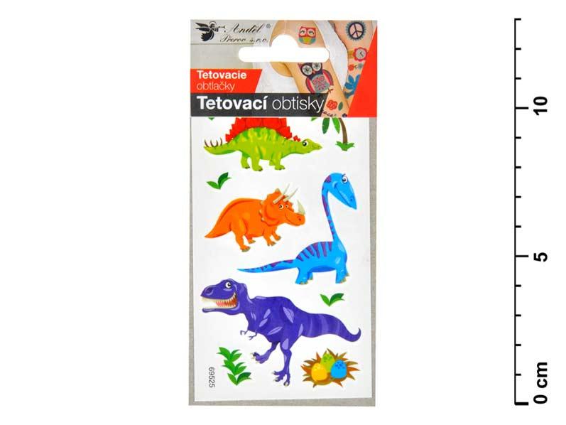 Tetovačky 1106 10,5x6 cm- malí dinosauri