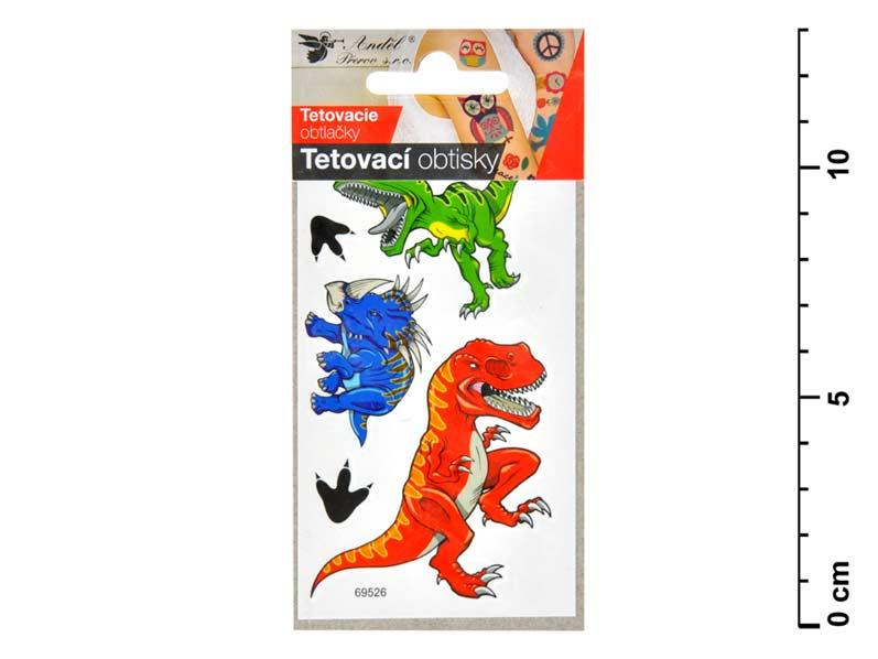Tetovací obtisky 1107 10,5x6 cm- velcí dinosauri