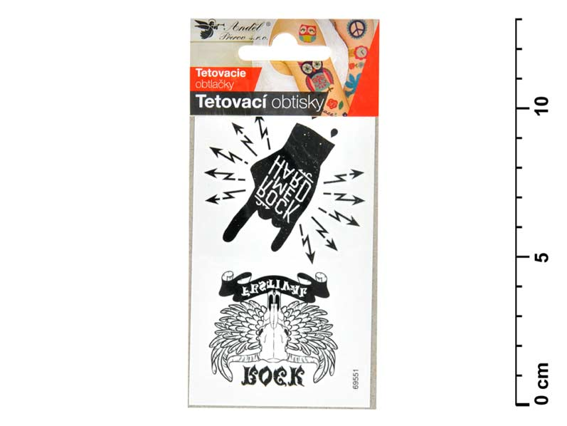 Tetovačky 1111 10,5x6 cm- Rock