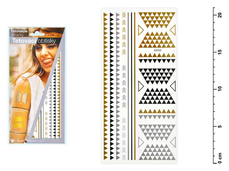Tetovačky 1117 zlaté a strieborné 21x10,5 cm- ornamenty