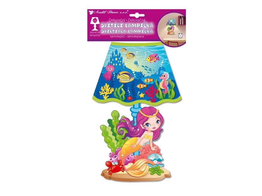 Samolepicí dekorácia 10527 svietiací LED lampáš morská bába 31cm