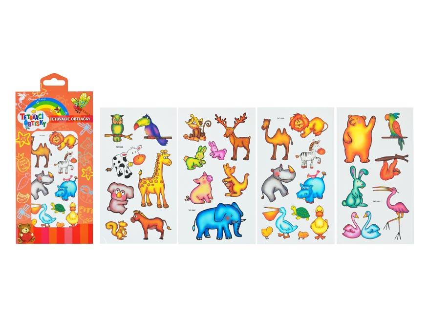 Tetovačky 1130 farebné, zvieratá 15 x 8,5 cm