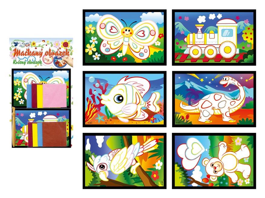 Mačkaný obrázok 1647 15x10cm, 2 ks