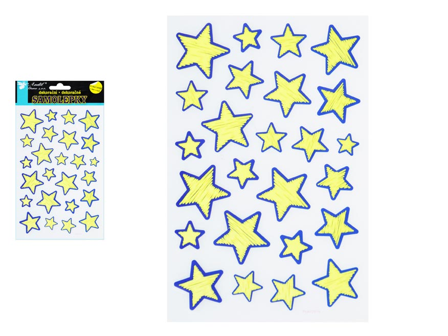 Samolepky 10208 svietiací vo tmě 21x14 cm, hviezdy
