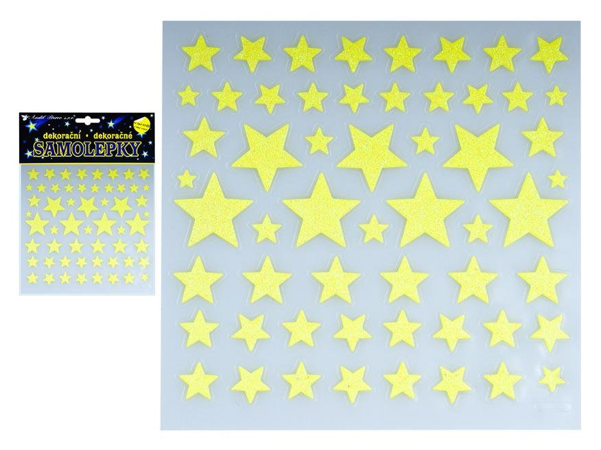 Samolepky 10262 svietiací vo tmě hviezdy 18 x 18 cm