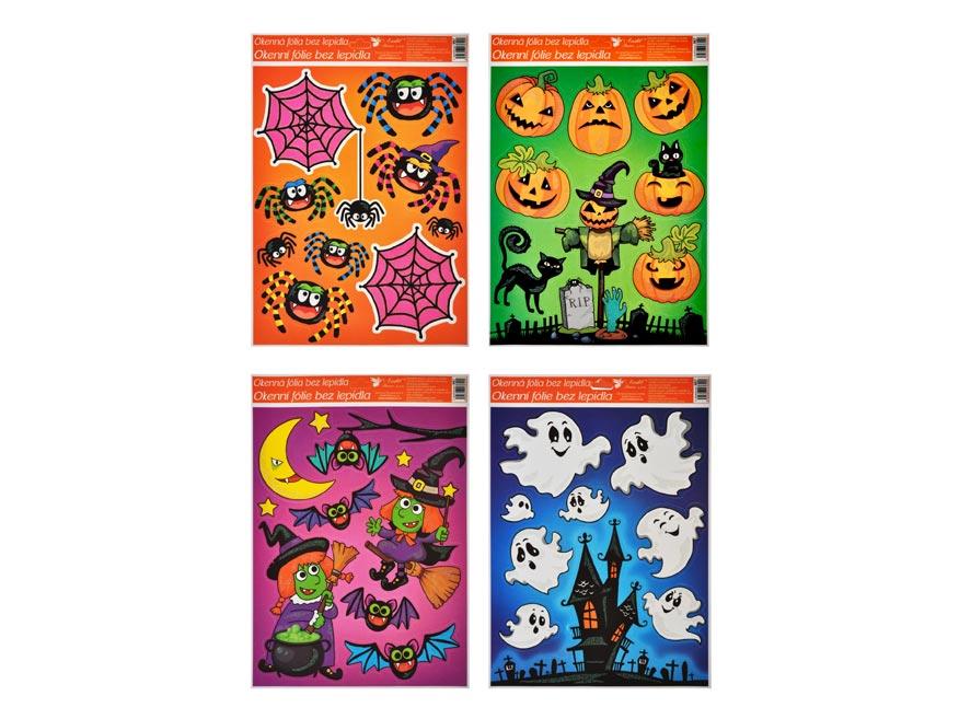 Okenná fólia 967 s glitrom 42x30 cm, Halloween