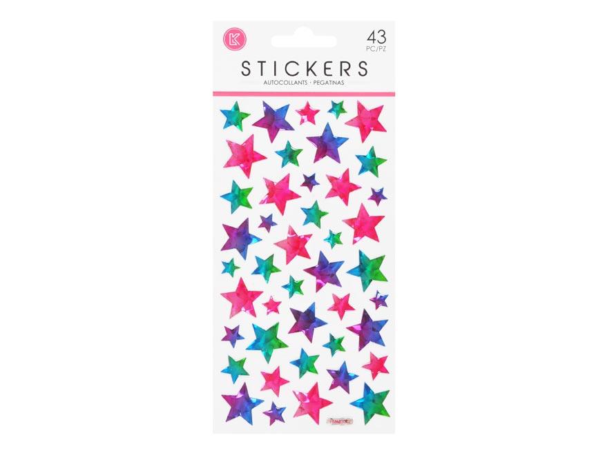 Wiky samolepky W002657 10 x 21,5 cm hviezdy gelové
