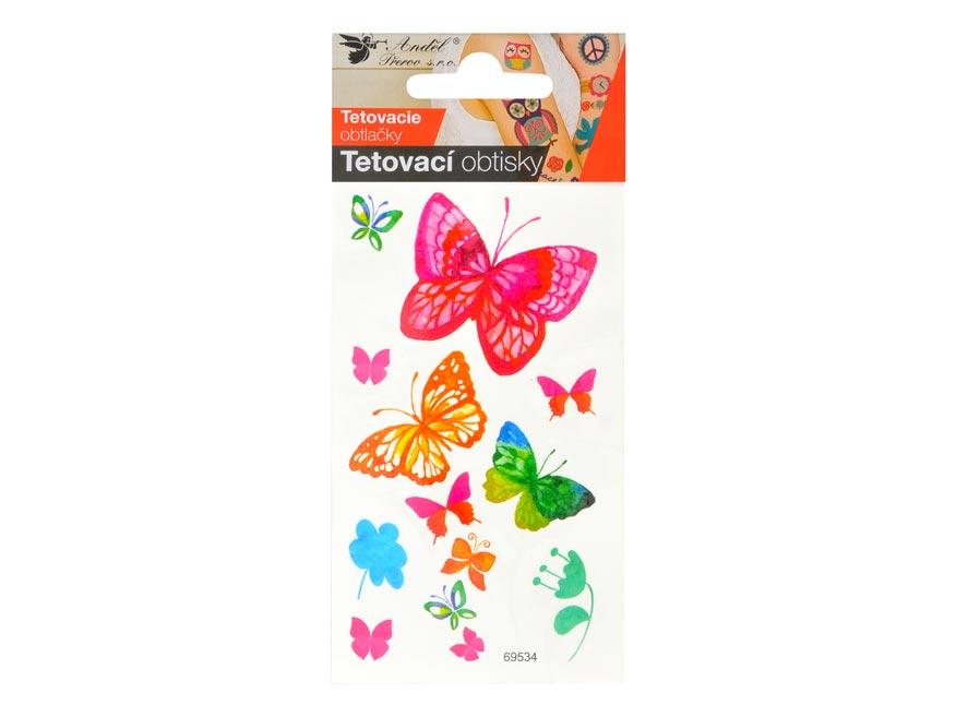 Tetovačky 1127 10,5x6 cm- motýle vodokresba