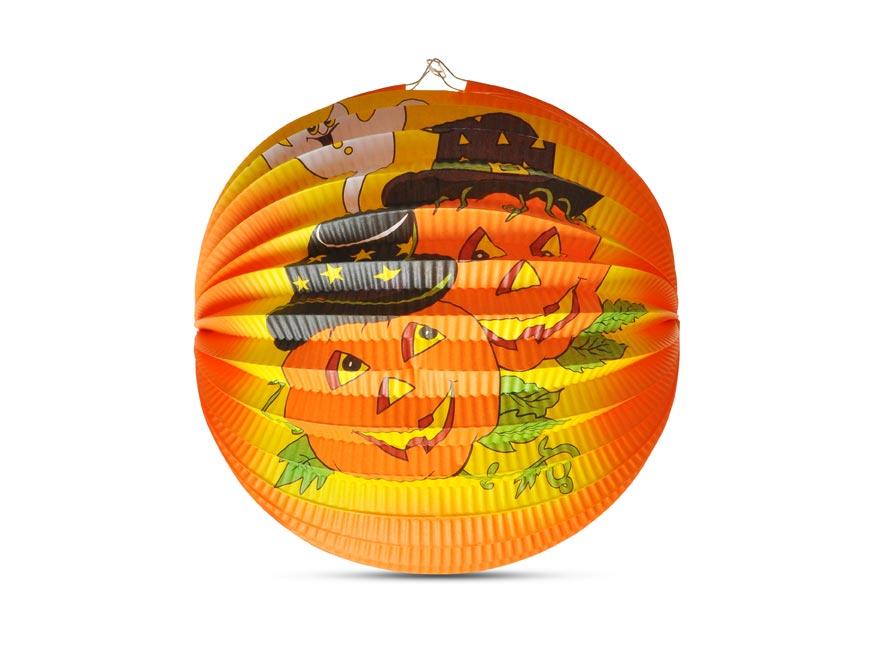 Lampión Halloween - veselá tekvica, 25 cm