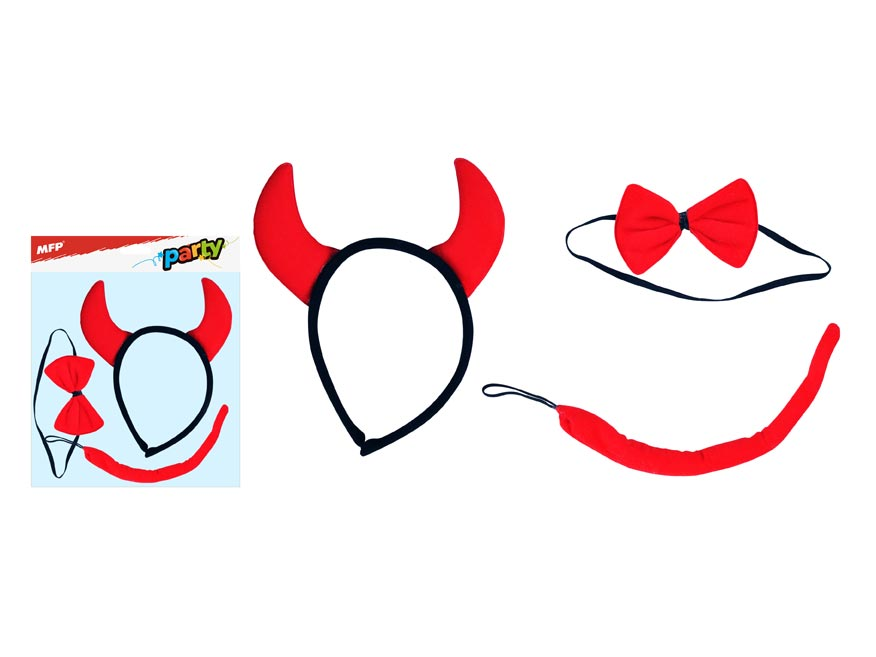 maska set 3ks čertík (čelenka,chvostik,motýlik) 1041473