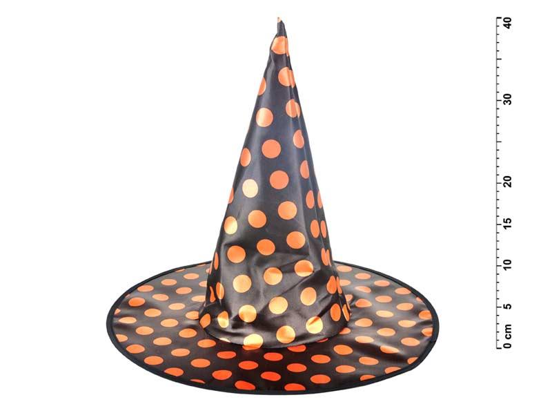 klobúk čarodejnícky M06 bodkovaný 40 x 36 cm 1041726