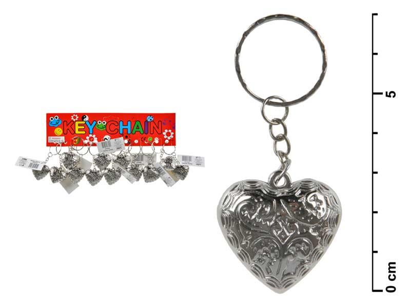 Kľúčenka 886442 srdce kov