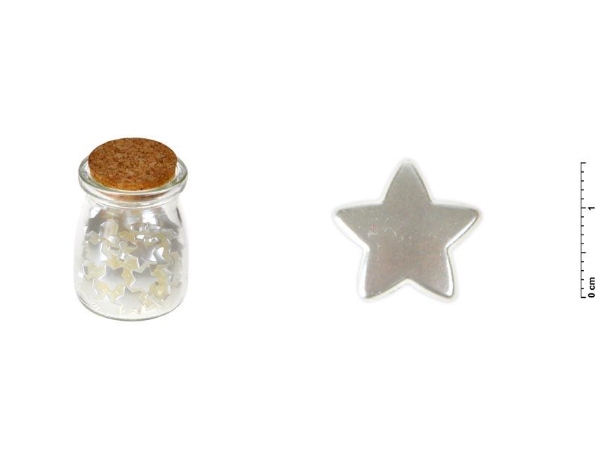 Fľaštička s perleťovými hviezdami set 1,5cm/100ks
