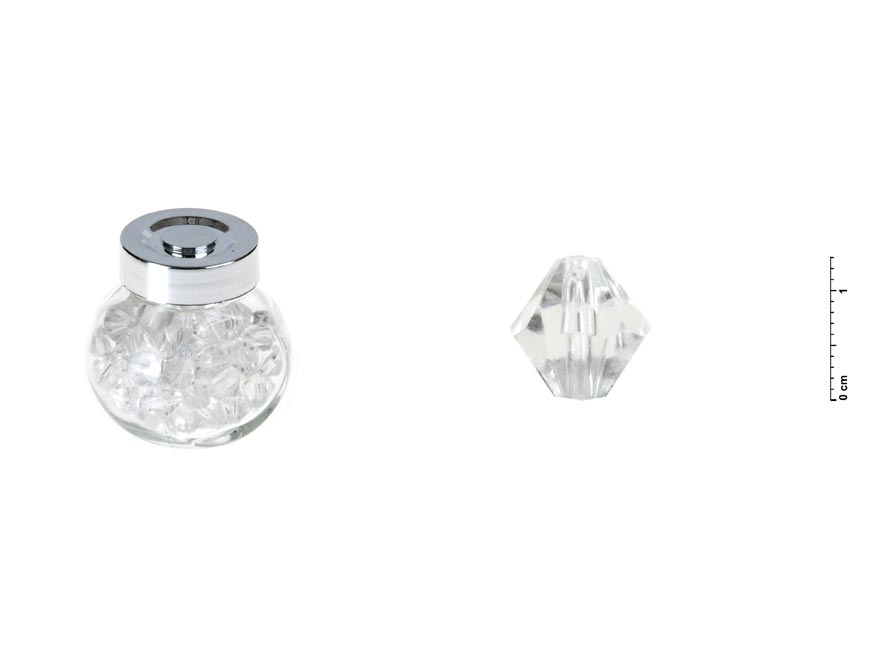 fľaštička s diamantami set 1,3cm/60ks 1041868