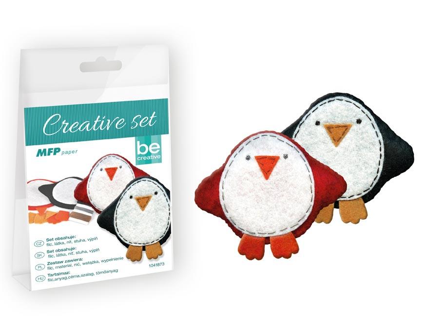 kreatívny set - tučniak 2ks, PVC krabička 1041873