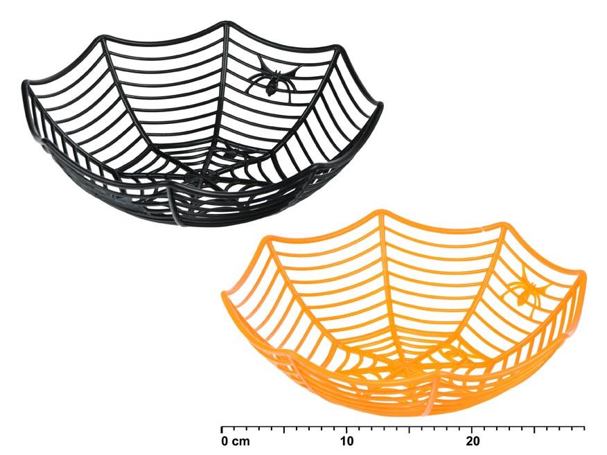 Košík 880377 pavučina plastový 28,5x27,5cm