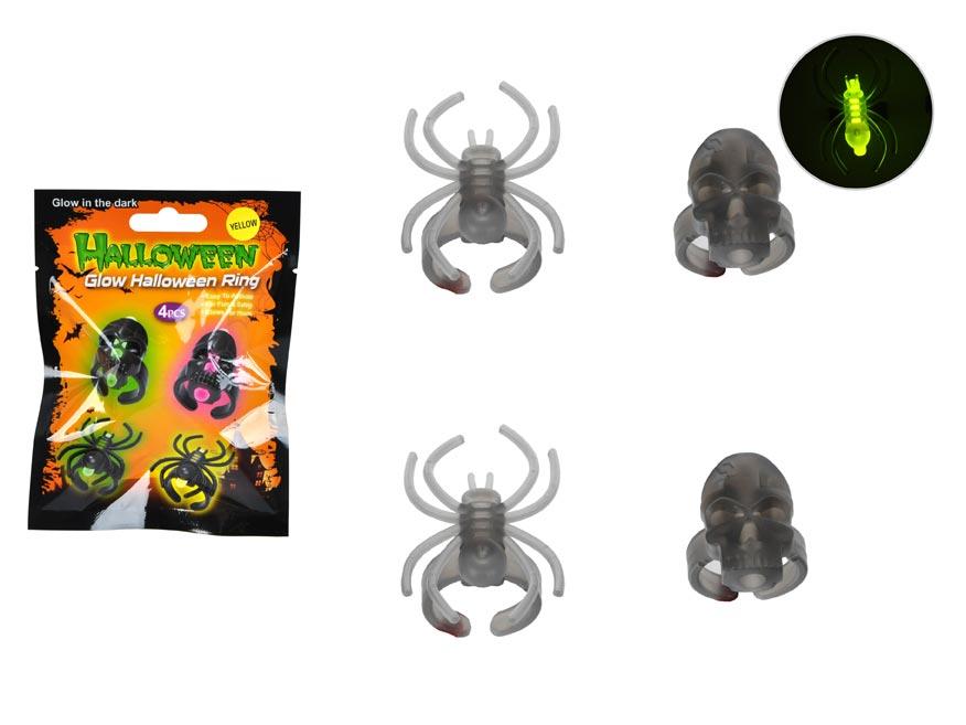 Prsteň 889614 žiariaci pavúk