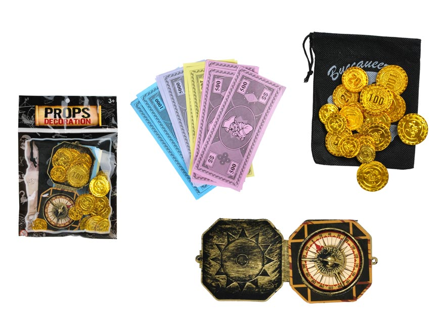 Set 880393 pirát - kompas, peniaze