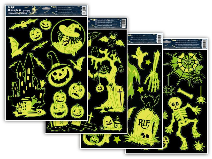okenná fólia halloween svietiací HA002 30x42cm 1041941