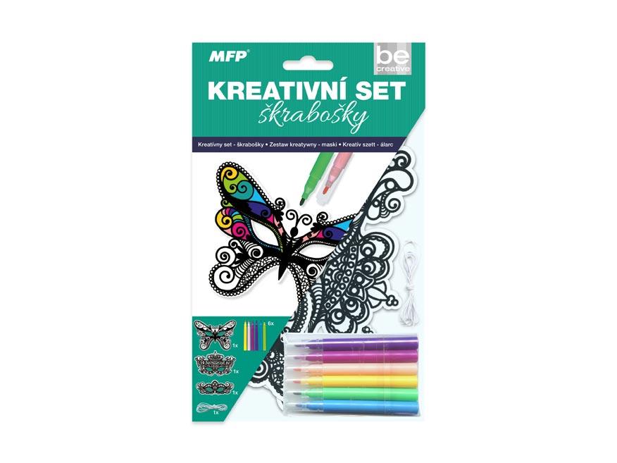 Kreatívny set - škrabošky 3ks