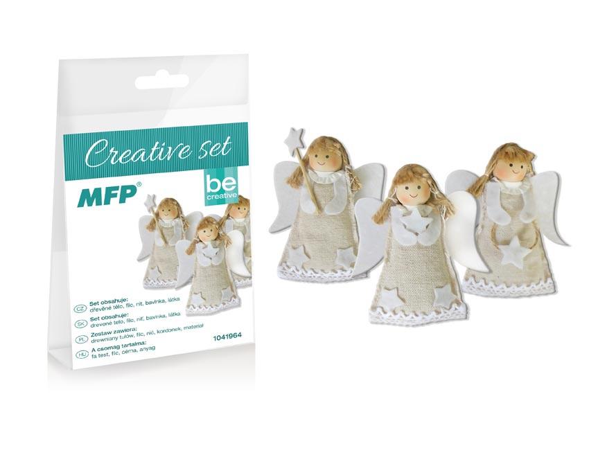 kreatívny set - anjelik 3ks, PVC škatuľka