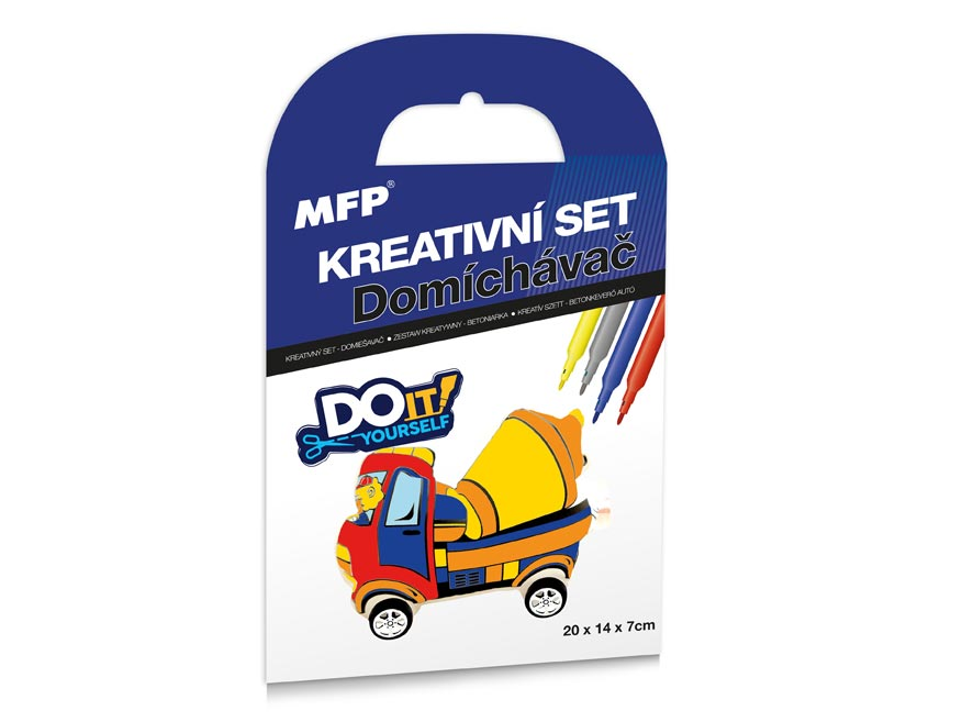Kreatívny set - Domiešavač - nafukovacie auto